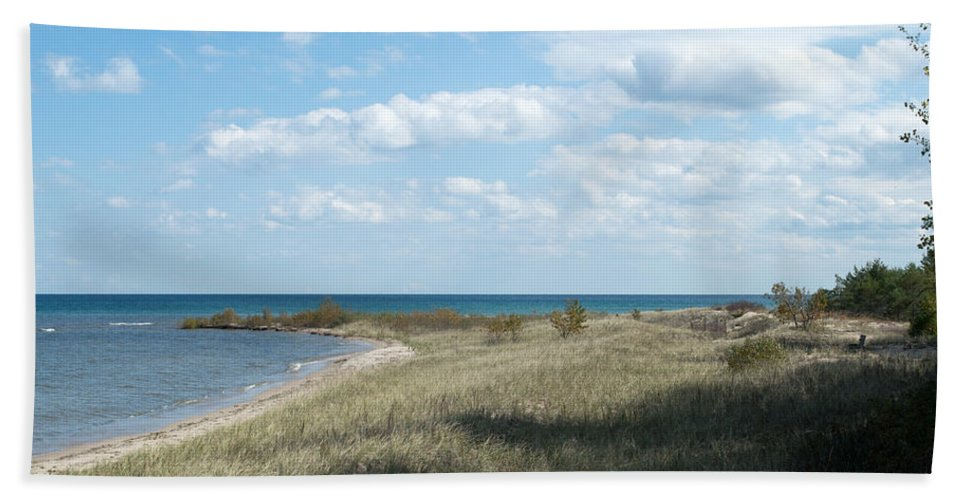 Lake Huron Beach Towel featuring the photograph Just Perfect by Linda Kerkau