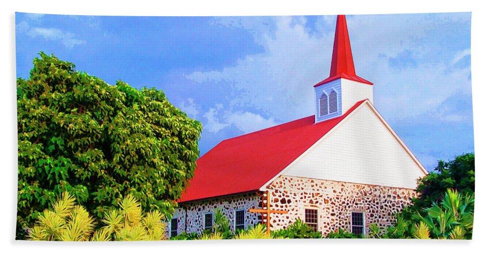 Kahikolu Congregational Beach Towel featuring the mixed media Kahikolu Congregational by Dominic Piperata