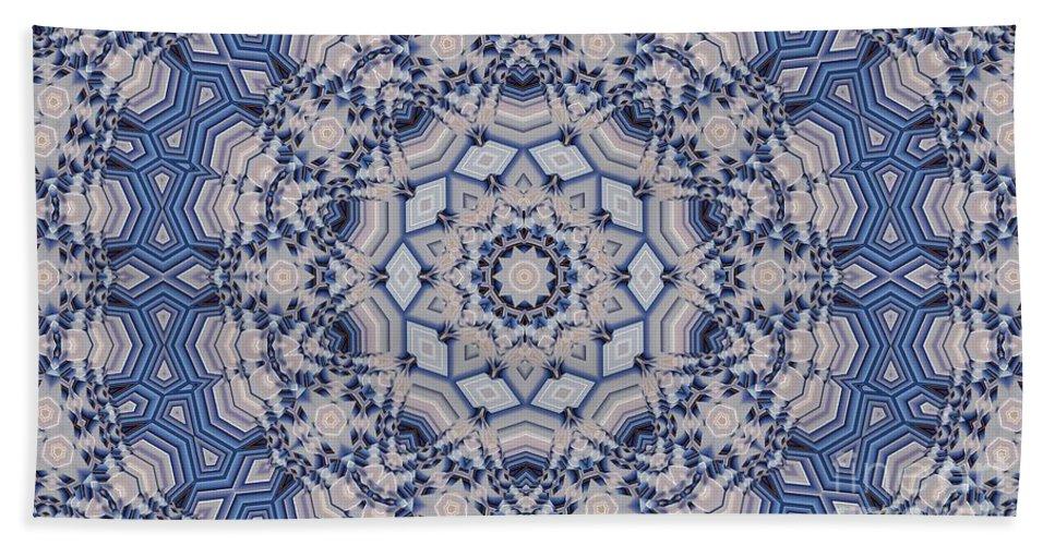Kaleidoscope Beach Towel featuring the digital art Kaleidoscope 16 by Ron Bissett
