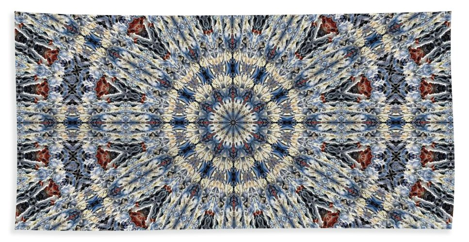Kaleidoscope Beach Towel featuring the digital art Kaleidoscope 29 by Ron Bissett