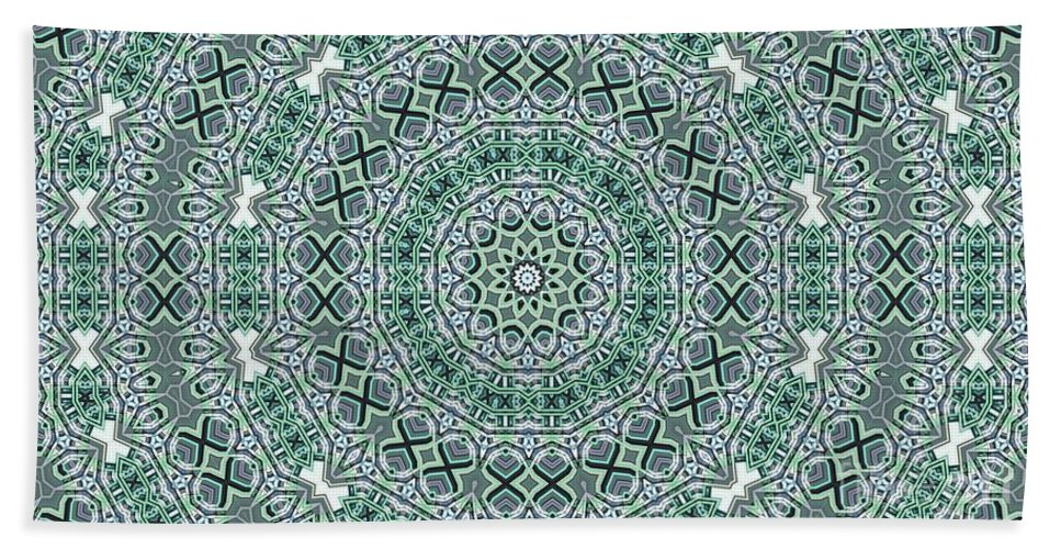 Kaleidoscope Beach Towel featuring the digital art Kaleidoscope 31 by Ron Bissett