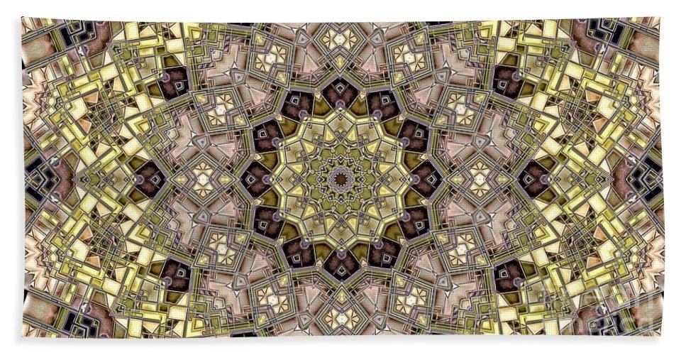 Kaleidoscope Beach Towel featuring the digital art Kaleidoscope 50 by Ron Bissett
