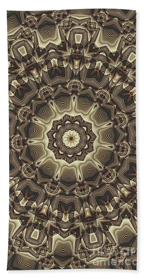 Kaleidoscope Beach Towel featuring the digital art Kaleidoscope 66 by Ron Bissett
