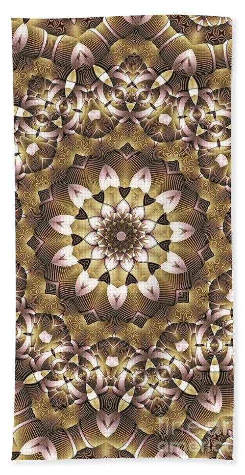 Kaleidoscope Beach Towel featuring the digital art Kaleidoscope 68 by Ron Bissett