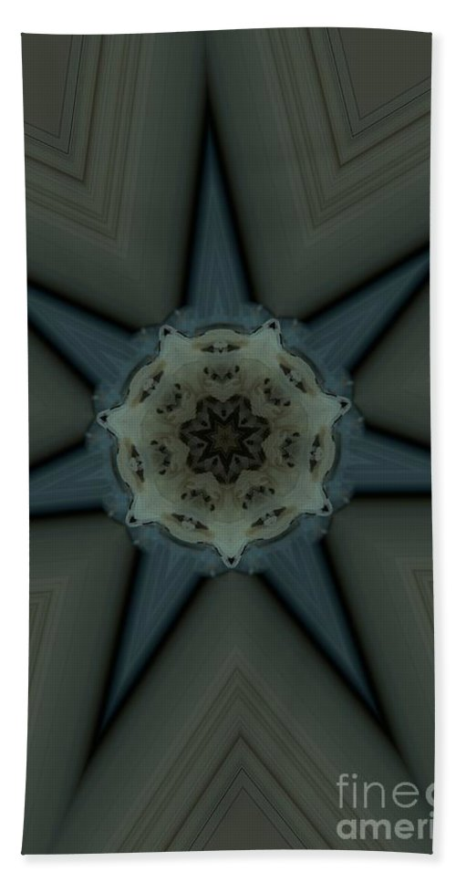 Kaleidoscope Beach Towel featuring the photograph Kaleidoscope Star by Donna Brown