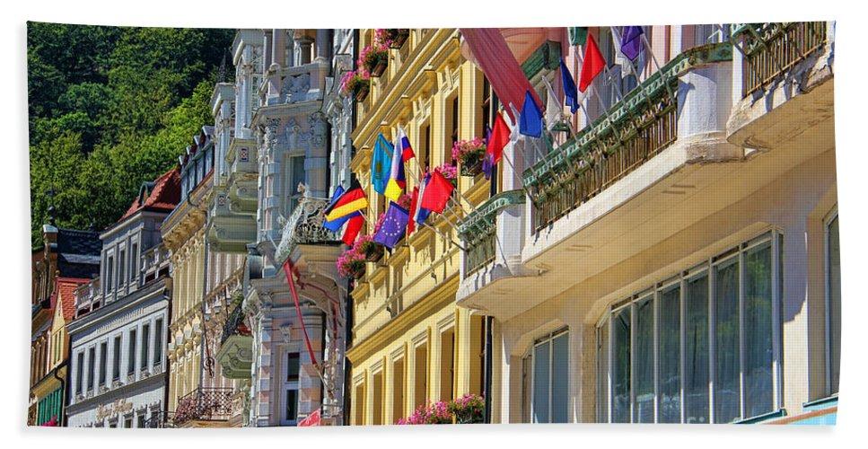 Karlovy Beach Towel featuring the photograph Karlovy Vary by Mariola Bitner