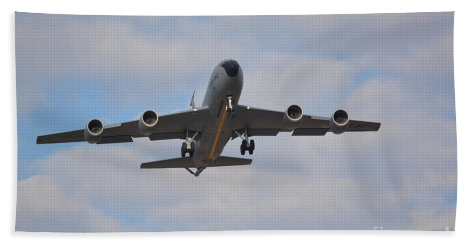 Airplanes Beach Towel featuring the photograph Kc135 Airforce Aircraft Picture A by Barb Dalton