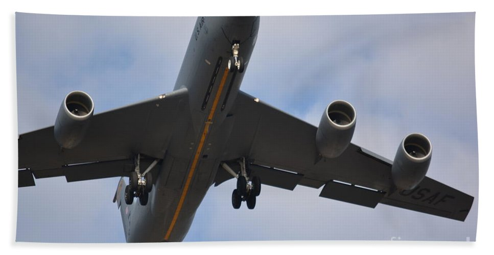 Airplanes Beach Towel featuring the photograph Kc135 Military Aircraft Picture C by Barb Dalton
