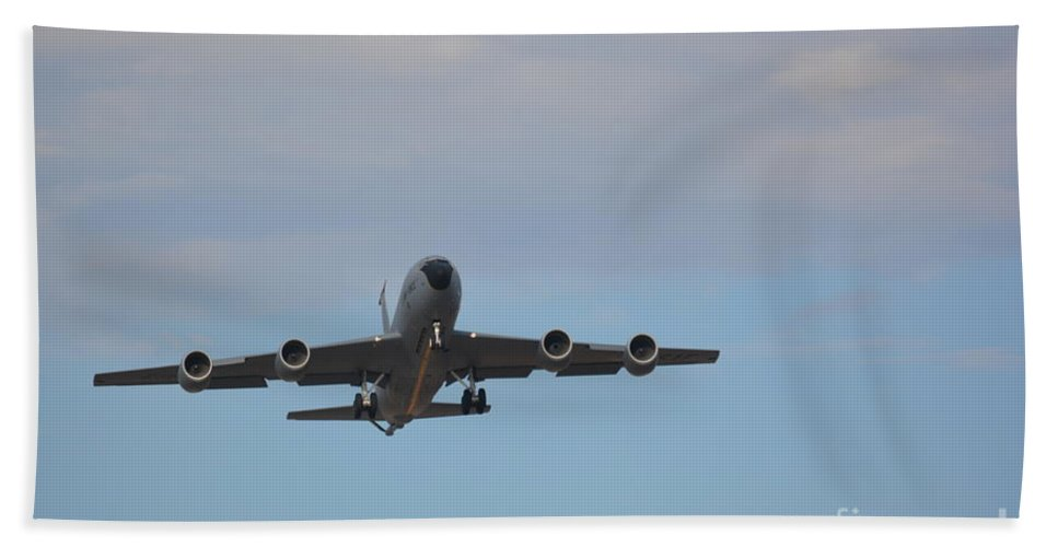 Airplanes Beach Towel featuring the photograph Kc135 Military Aircraft Picture D by Barb Dalton