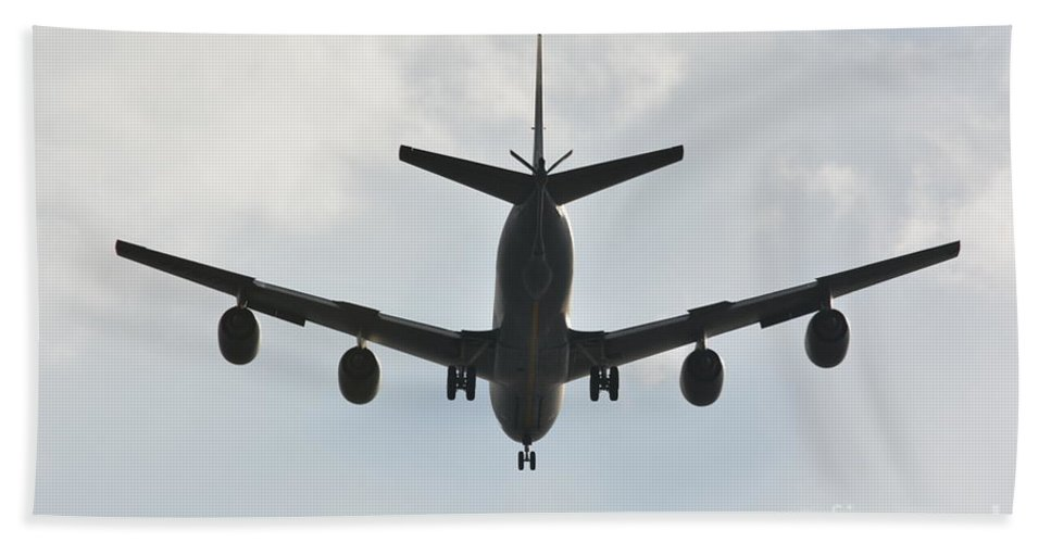 Airplanes Beach Towel featuring the photograph Kc135 Military Aircraft Picture E by Barb Dalton