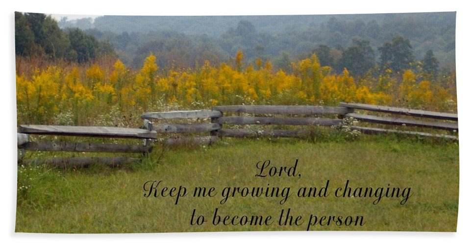 Fence Beach Towel featuring the photograph Keep Me Growing by Sara Raber