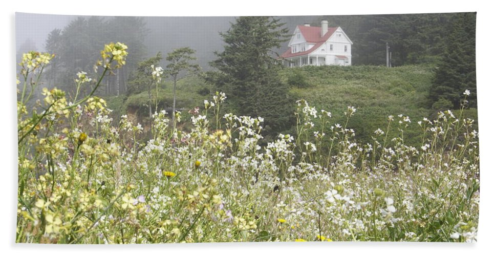 House Beach Towel featuring the photograph Keepers House by Laddie Halupa