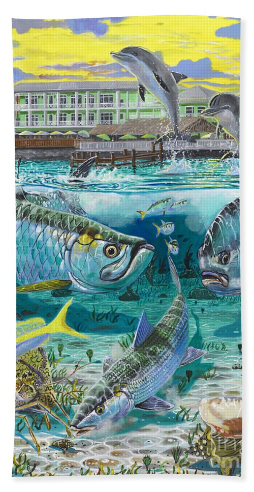 Grand Slam Beach Towel featuring the painting Key Largo Grand Slam by Carey Chen
