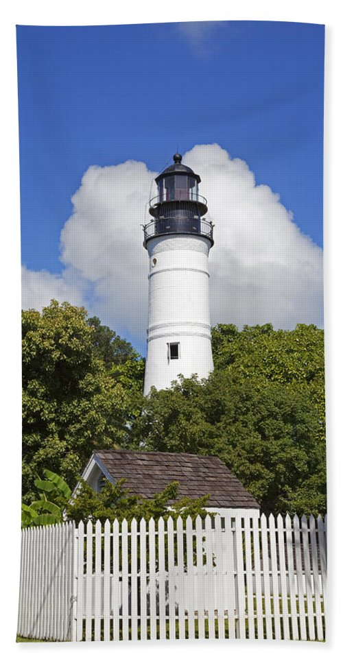 Key West Beach Towel featuring the photograph Key West Lighthouse by John Stephens