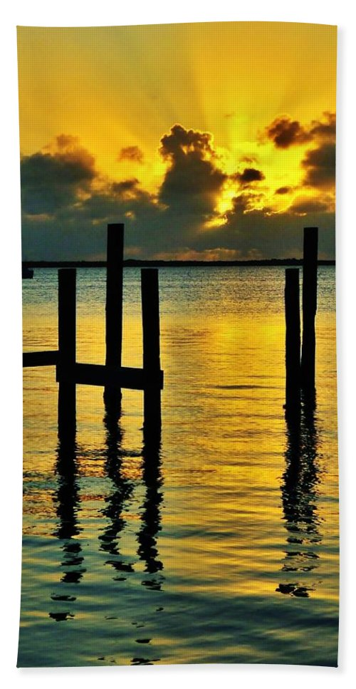 Florida Beach Towel featuring the photograph Keys Sunset by Benjamin Yeager