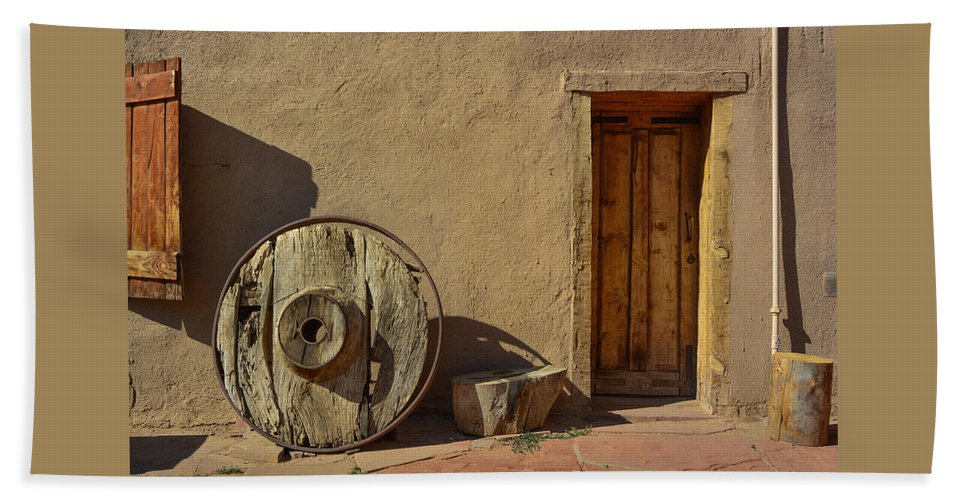 New Mexico Beach Towel featuring the photograph Kit Carson Home Taos New Mexico by Jeff Black
