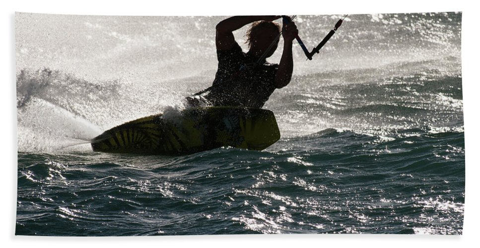 Australia Beach Towel featuring the photograph Kite Surfer 02 by Rick Piper Photography