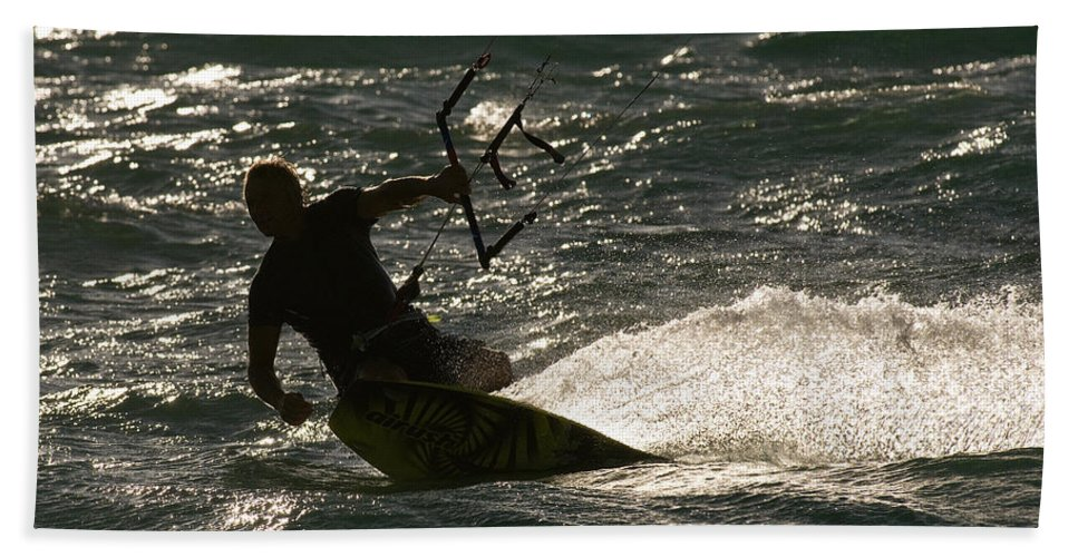 Australia Beach Towel featuring the photograph Kite Surfer 03 by Rick Piper Photography