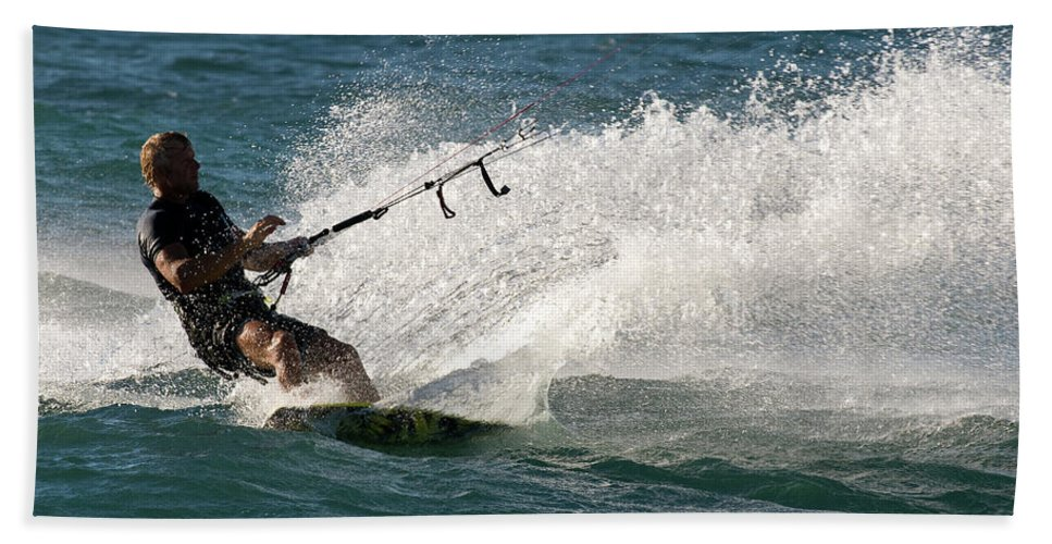 Australia Beach Towel featuring the photograph Kite Surfer 04 by Rick Piper Photography