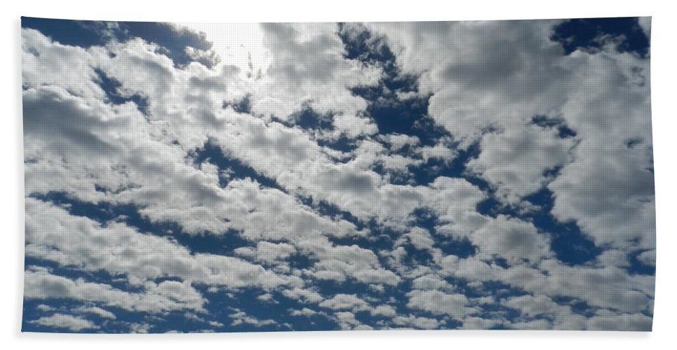 Beach Towel featuring the photograph Knock On The Sky 2 by Cathy Anderson