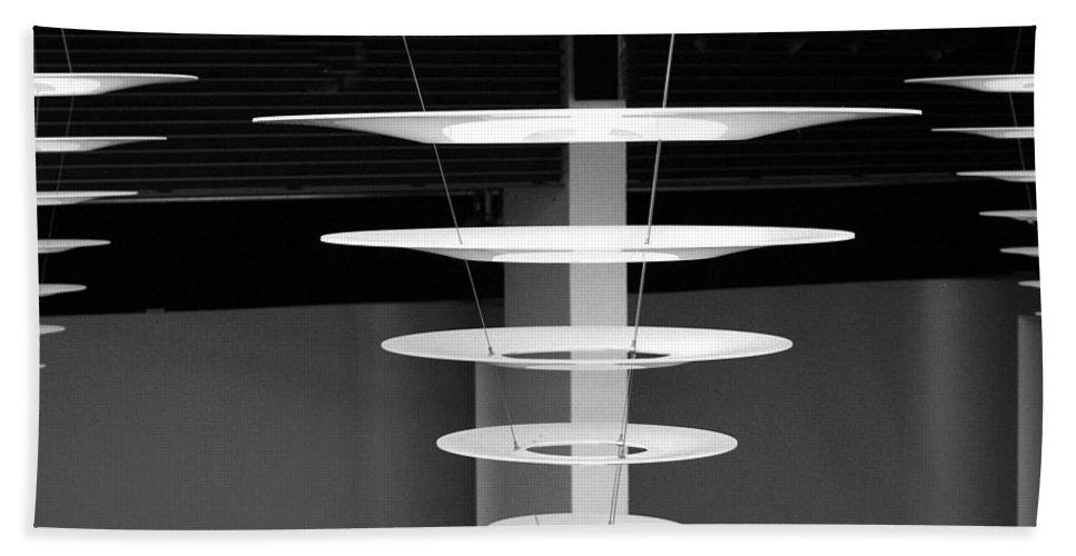 Black And White Beach Towel featuring the photograph Kopenhavn De Danish Design Center 02 by Jeff Brunton