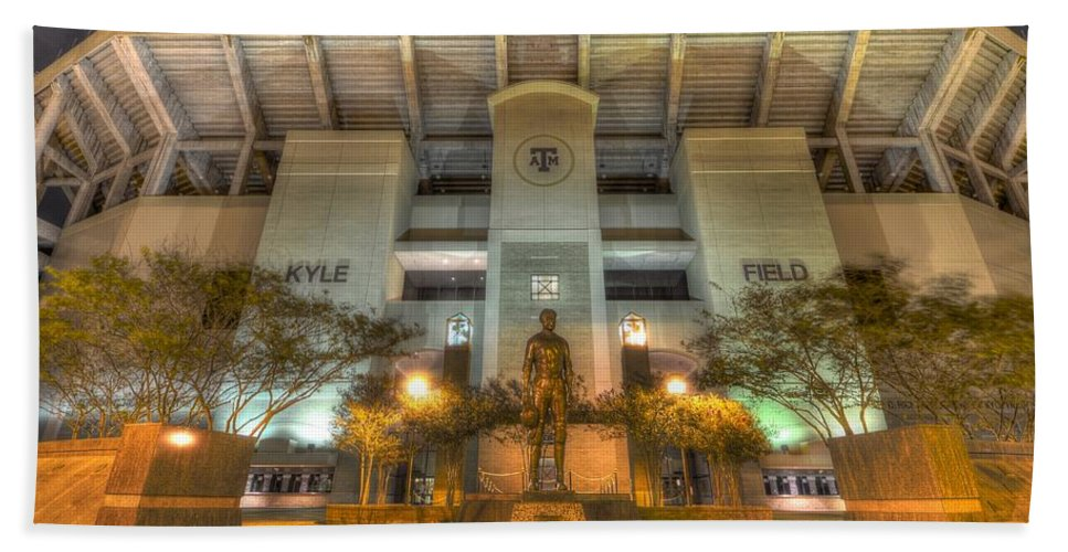 12th Man Beach Towel featuring the photograph Kyle Field by David Morefield
