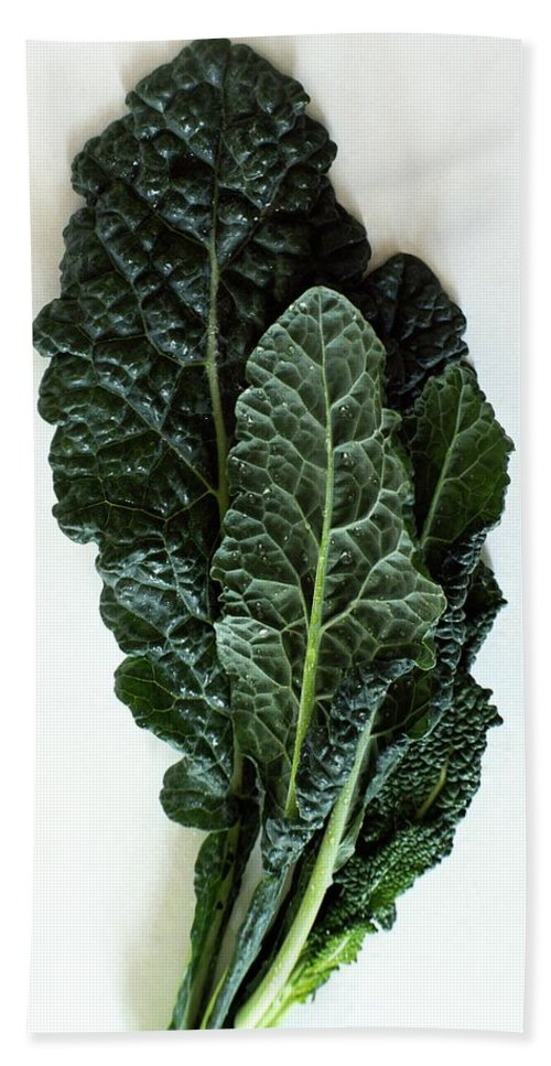 Food Beach Towel featuring the photograph Lacinato Kale by Romulo Yanes