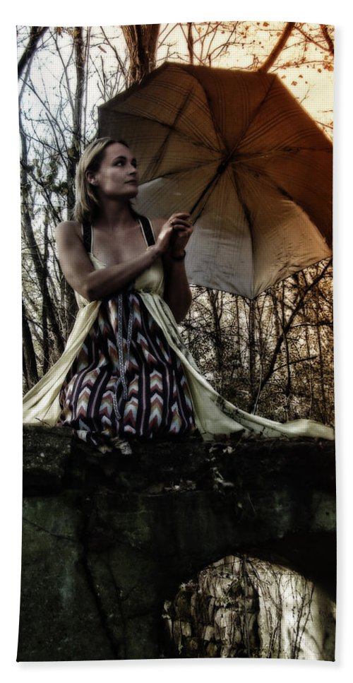Bridges Beach Towel featuring the photograph Lady Rain by Kristie Bonnewell