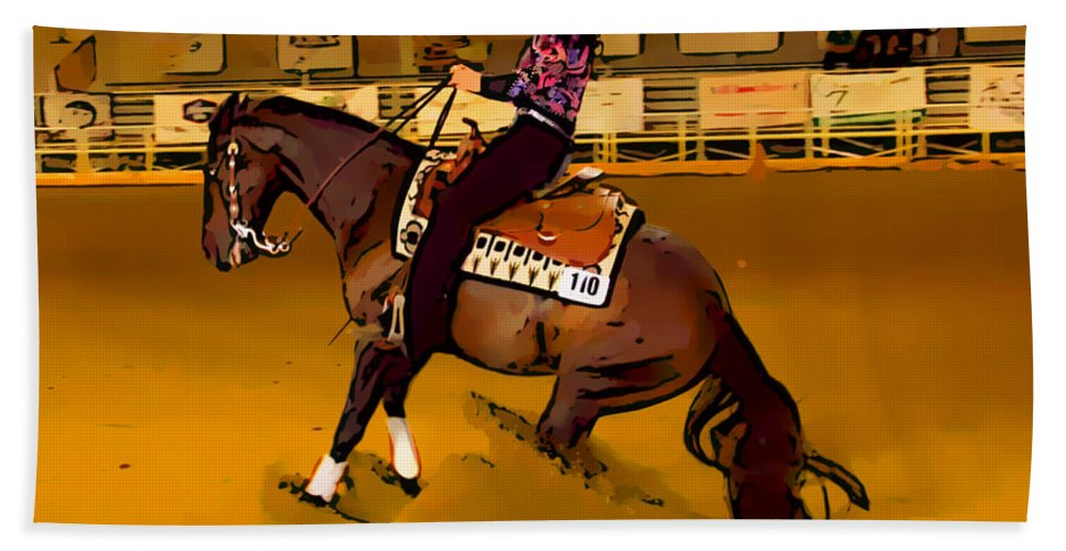 Horse Beach Towel featuring the photograph Lady Slide by Alice Gipson