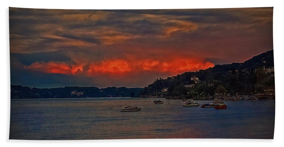 Landscape Beach Towel featuring the photograph Lago Maggiore by Hanny Heim