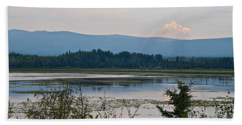 Lake Along Klondike Highway Beach Towel featuring the photograph Lake Along Klondike Highway-yt by Ruth Hager