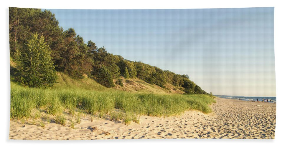 Lake Michigan Beach Towel featuring the photograph Lake Michigan Dunes 02 by Thomas Woolworth