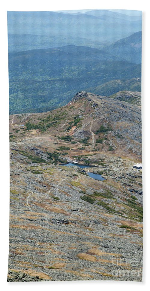 White Mountain National Forest Beach Towel featuring the photograph Lakes Of The Clouds - Mount Washington New Hampshire Usa by Erin Paul Donovan