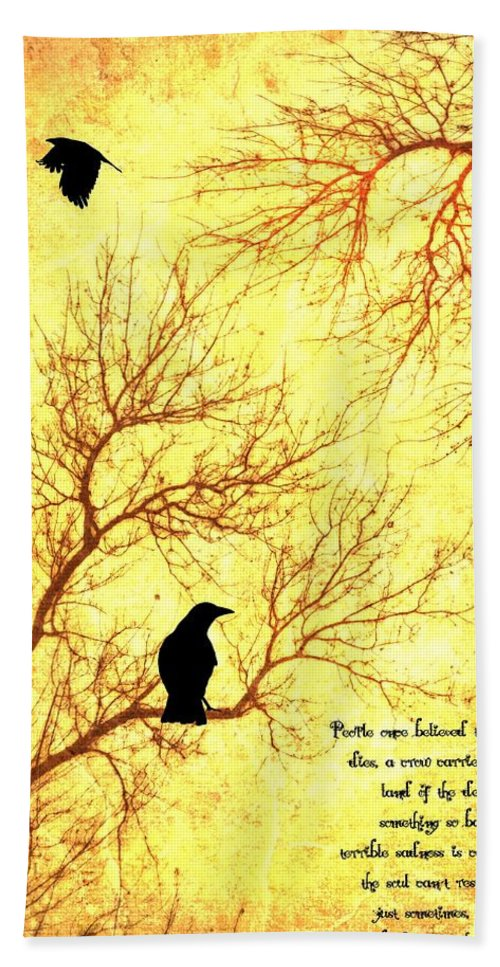 Nevermore Beach Towel featuring the mixed media Land Of The Dead by Dan Sproul