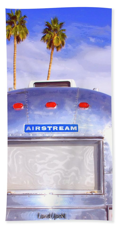 Airstream Beach Towel featuring the photograph Land Yacht Palm Springs by William Dey