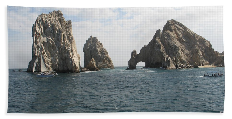 Lands End Beach Towel featuring the photograph Lands End - Cabo San Lucas Mexico by S Mykel Photography