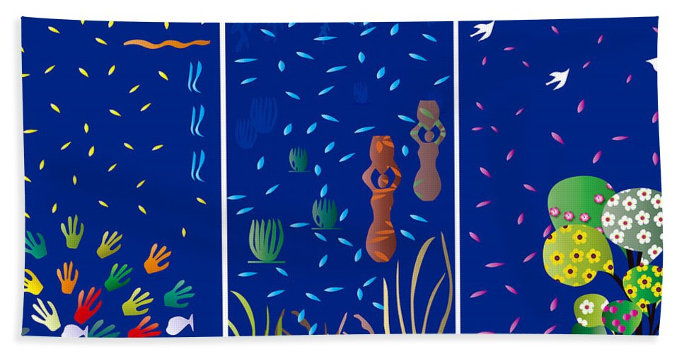 Nature Beach Towel featuring the digital art Landscapes With Women - Limited Edition 1 Of 20 by Gabriela Delgado