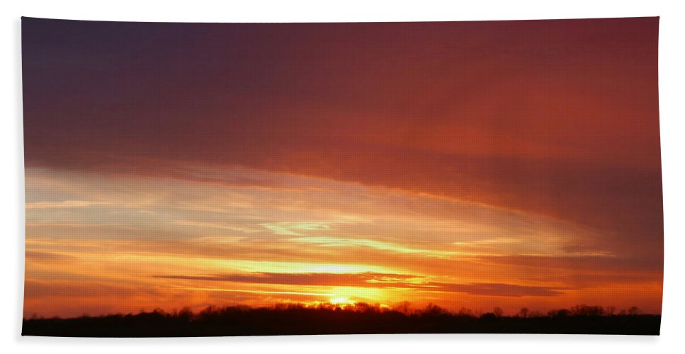 Sunset Beach Towel featuring the photograph Last Sunset Of 2013 by Dan McCafferty