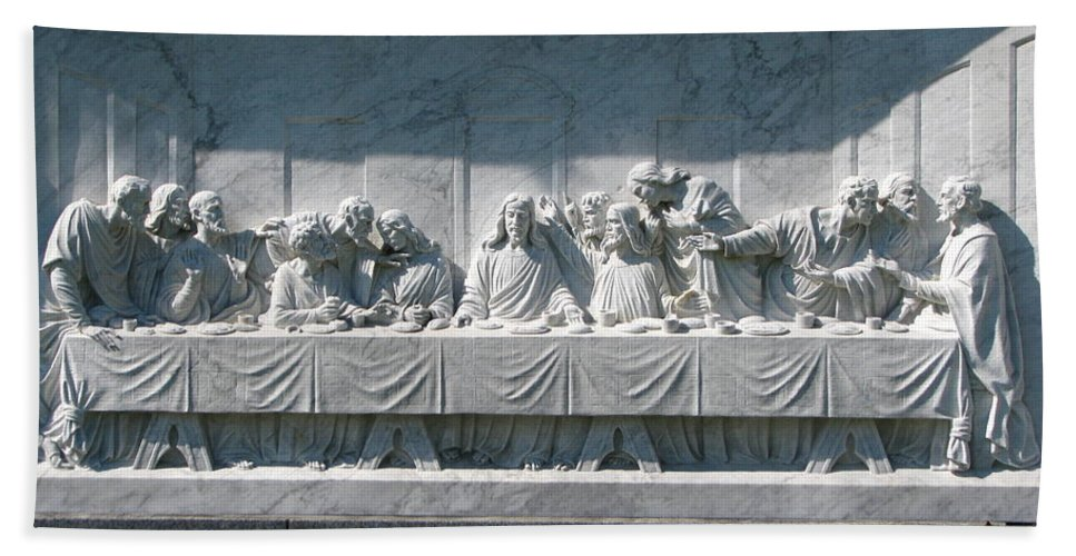 Art For The Wall...patzer Photography Beach Towel featuring the photograph Last Supper by Greg Patzer