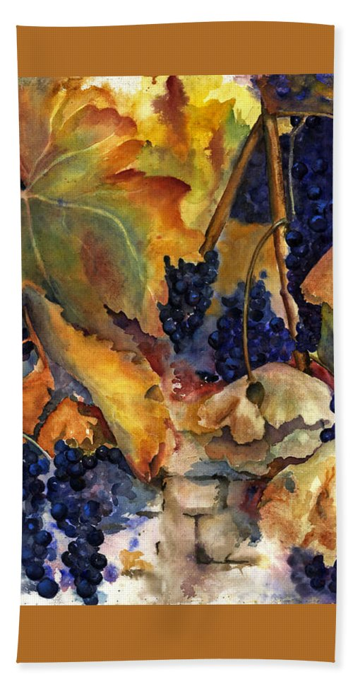 Still Life Beach Towel featuring the painting The Magic Of Autumn by Maria Hunt