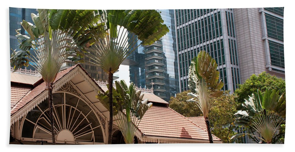 Singapore Beach Towel featuring the photograph Lau Pa Sat Market 01 by Rick Piper Photography