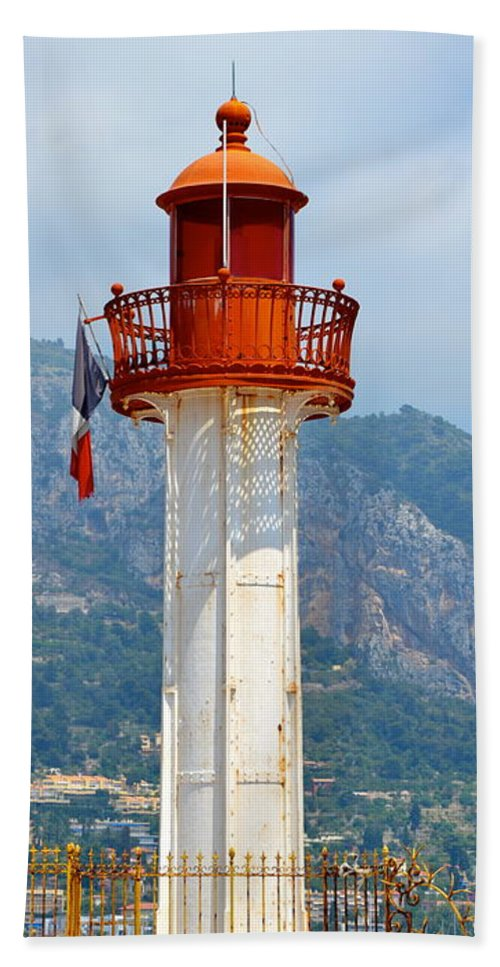 Lighthouse Beach Towel featuring the photograph Le Phare II by Corinne Rhode