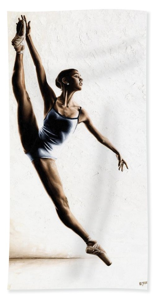 Dance Beach Towel featuring the painting Leap of Faith by Richard Young