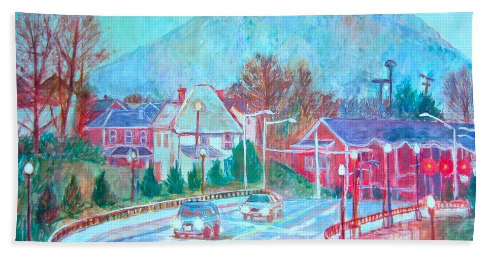 Roanoke Beach Towel featuring the painting Leaving Roanoke by Kendall Kessler