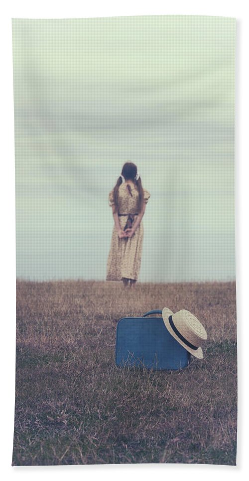 Girl Beach Towel featuring the photograph Leaving The Past Behind Me by Joana Kruse
