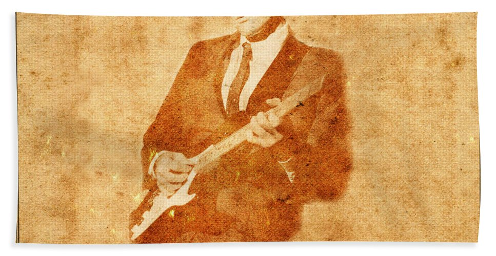 Buddy Holly Beach Towel featuring the photograph Legends 9 by Andrew Fare