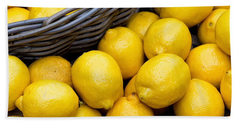 Lemons Beach Towel featuring the photograph Lemons 01 by Rick Piper Photography