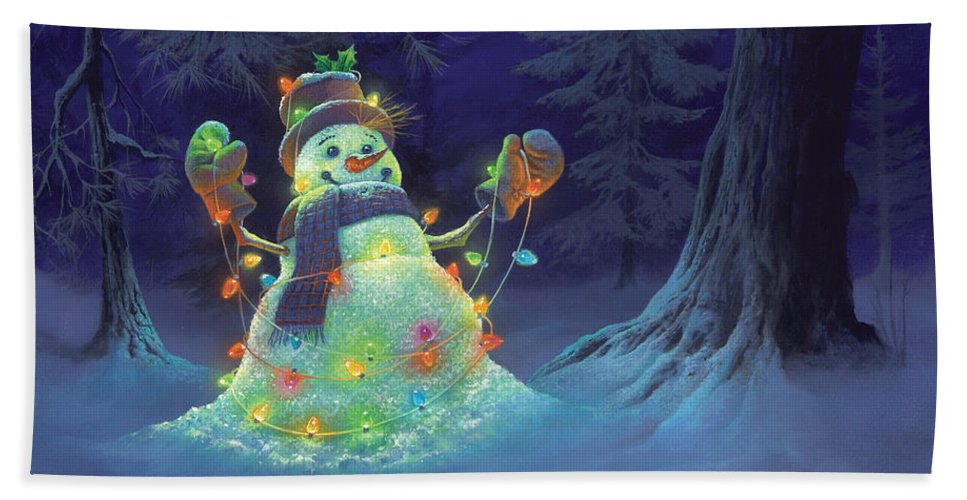 Michael Humphries Beach Towel featuring the painting Let It Glow by Michael Humphries