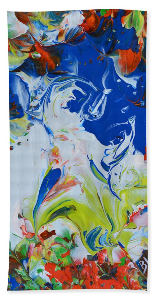 Spirit Beach Towel featuring the painting Let Your Spirit Rise by Donna Blackhall