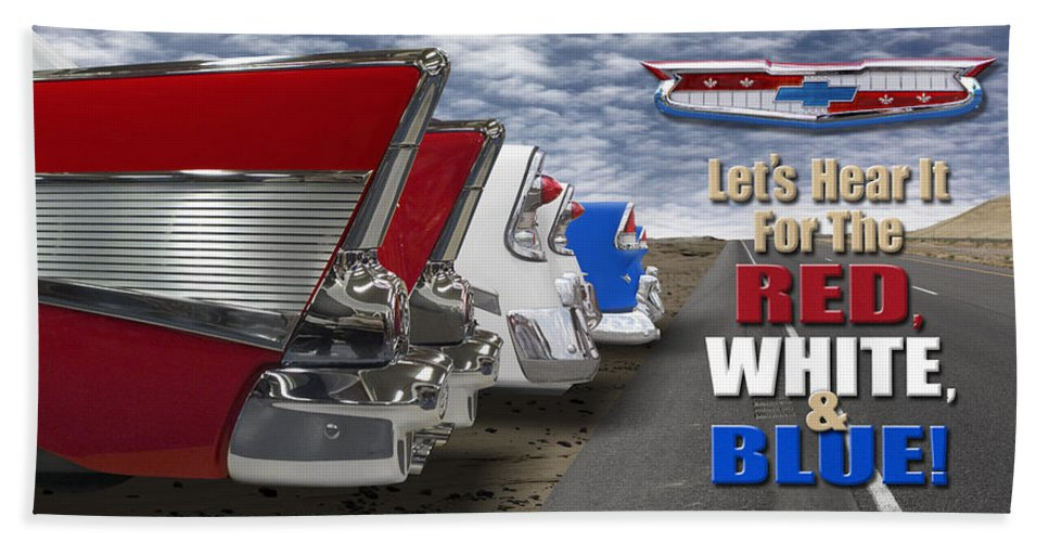 Transportation Beach Towel featuring the photograph Lets Hear It For The Red White And Blue by Mike McGlothlen